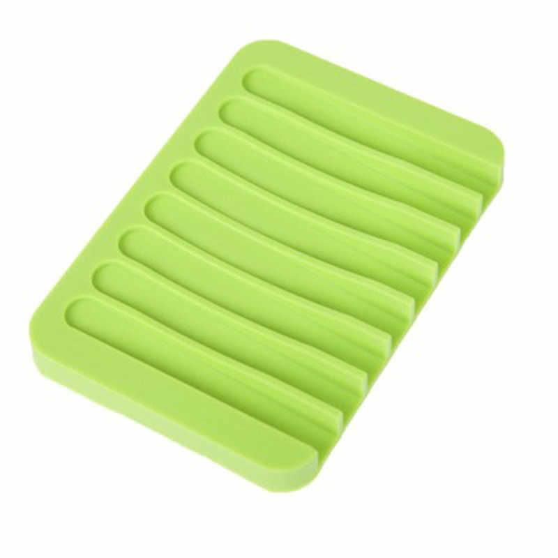 1 pièces offre spéciale Silicone Flexible porte-savon support de rangement extérieur Portable boîte à savon douche plaque plateau Drain bain maison conteneur