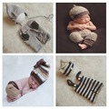 Handmade Newborn Baby Boys Photography Props Hat Set Infant Handmade Crochet Knitted Cap Toddler Costume Outfit