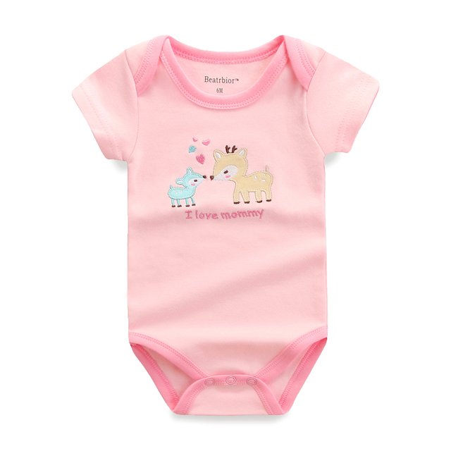 5 PCS/LOT Baby Rompers Summer Baby Clothing Set Cartoon Romper Infant Newborn Baby Boy and Girl Clothes Overall Jumpsuit