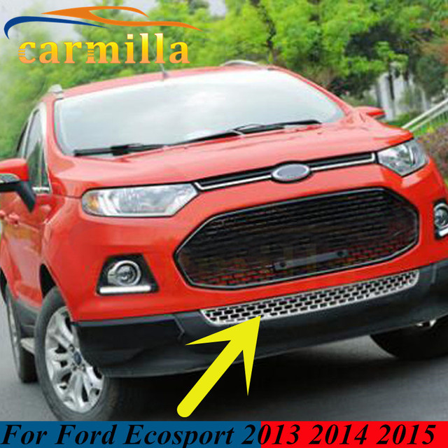 Colors Choices Abs Chrome Glossy Grille Car Front Face Small Down Grill For Ford Ecosport