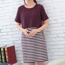 Pregnancy Dress Women Nursing Clothes Striped Vestidos Casual Breastfeeding Maternity Dresses for Pregnant Women Clothing