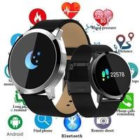 New Bluetooth Q8 Advanced Fitness Smart Watch Stainless Steel Waterproof Smartwatch Wristwatch Men Women Tracker For Android IOS