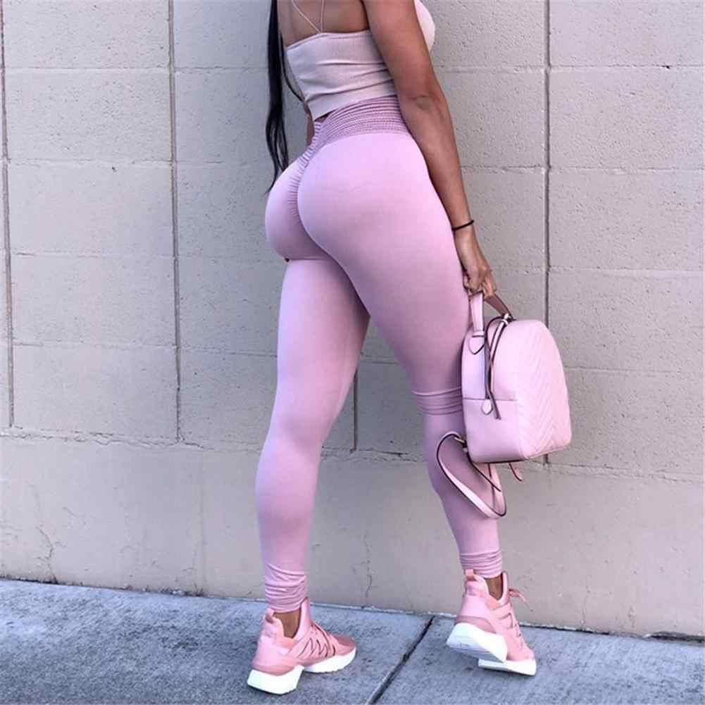 0a00b4979b3 Yoga Pants Women High Waist Booty Sport Leggings Breathable Fitness ...