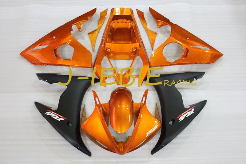 Orange Black Injection Fairing Body Work Frame Kit for Yamaha YZF R6 2005