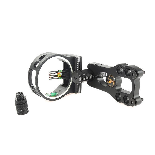 Good Quality Hunting Adjustable Compound Bow Sight 5 Pin With Light Optic Archery TP1550