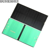 BUHESHUI 1W 6V Mini  Solar Panel Solar Cell Solar Module Monocrystalline DIY Solar Charger Epoxy 125*63MM 2pcs/lot Free Shipping