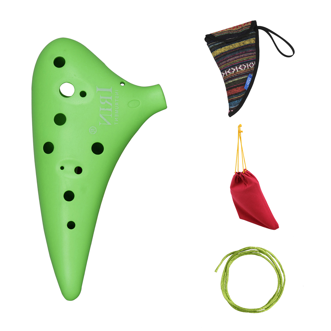IRIN 12 High Hole C Ocarina Flute Vessel Material ABS Sweet Potato Shape With 2 Protection Bags Wind Instrument Gift For Begin