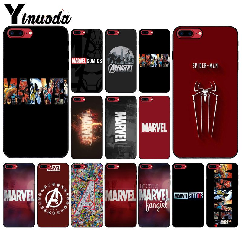 Yinuoda Deadpool Iron Man Marvel Avengers  DIY Phone Case cover Shell for Apple iPhone 8 7 6 6S Plus X XS MAX 5 5S SE XR Cover marvel glass iphone case