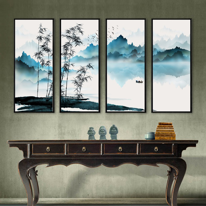 modern custom decorated painting wallpaper Chinese clssic ink painting wall mural living room study room bachground wallpaper