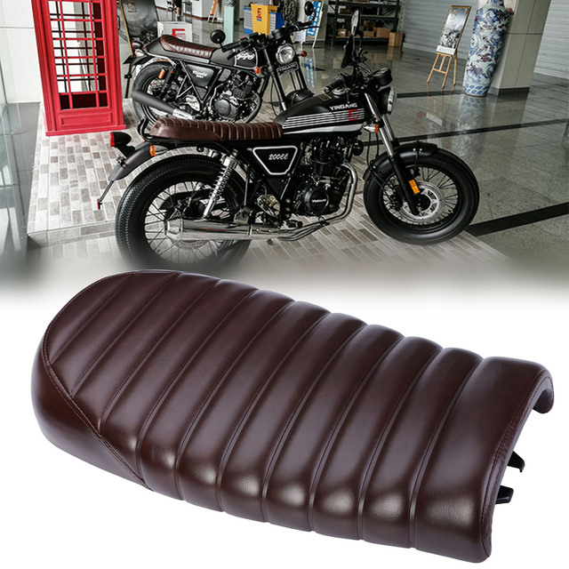 MAYITR Vintage Flat Brat Styling Motorcycle Cafe Racer Seat Saddle For Honda CB350 CB450 CB750