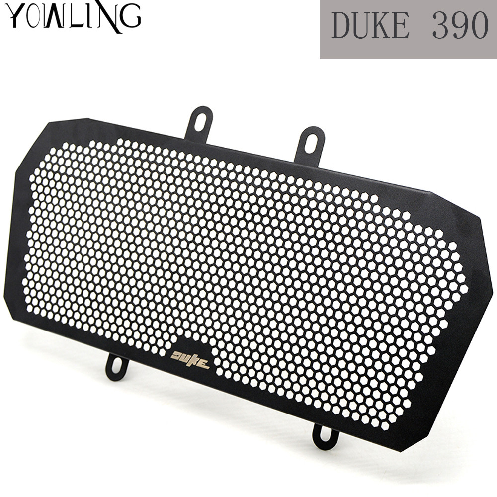 For Duke 390 Motorcycle Accessories Stainless Steel Motorbike Radiator Grill Guard Cover For KTM 390 2013 2014 2015 2016 2017 motorcycle front rider seat leather cover for ktm 125 200 390 duke