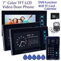 "Free shipping!7"" WD02SRR13 Door Bell Phone HD Camera 3x Monitor Intercom 8GB DVR Night Vision Security"
