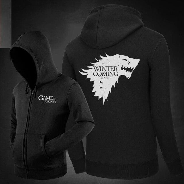 Game of Thrones Stark Lannister Baratheon Targaryen Tully Hoodies Hoody  Sweatshirts Outerwear Unisex Cotton Zipper Coat