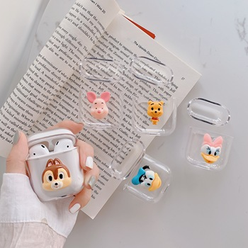 For Airpods Cartoon Cute Mickey Duck Earphone Case For Apple Airpods Hard Case Wireless Bluetooth For Airpods Case Accessories