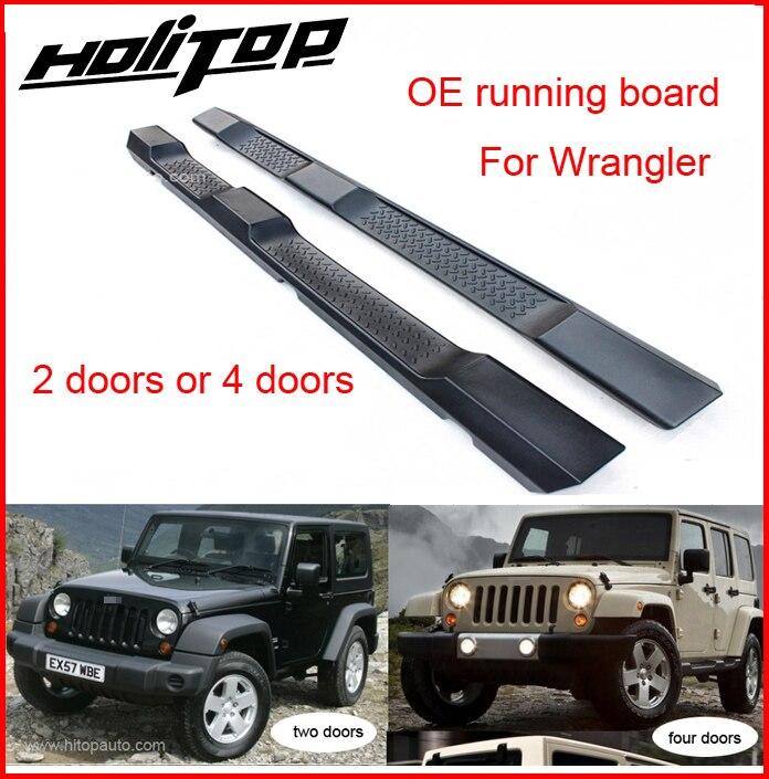 Горячие для Jeep Wrangler 2008-2017 футов шаг Бег подножка бар, 2 двери и 4 двери, гарантия качества, бесплатная доставка в Азии