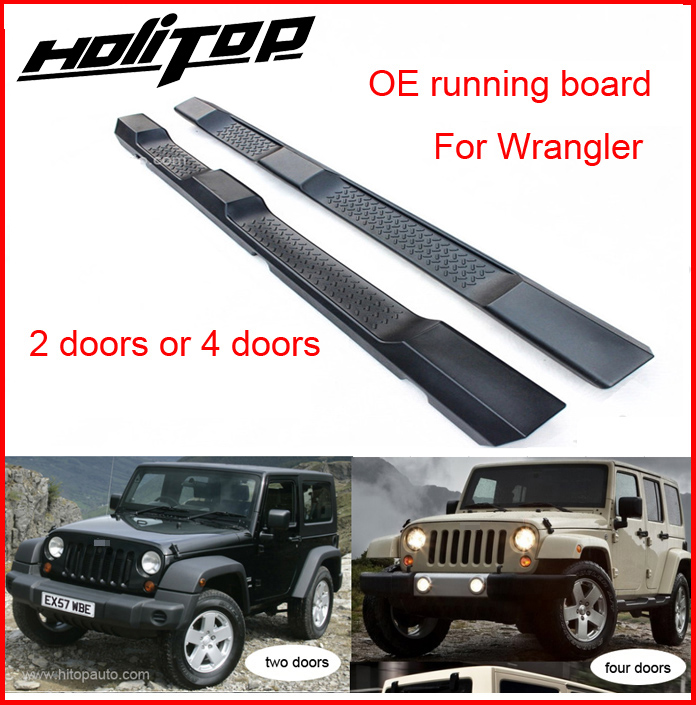 Foot Step Running Board Side Step Bar For Jeep Wrangler JK 2008-2017, 2 Doors&4doors,quality Guarantee,free Shipping To Asia
