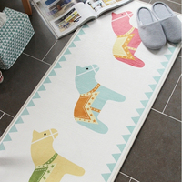 50X80+50X120CM/Set Cartoon Horse Kitchen Mat Korean Home Entrance/Hallway Doormat Anti Slip Bathroom Carpet Wardrobe/Balcony Rug