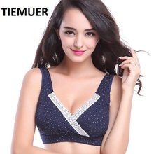 Cross Sleep Nursing Bras For Women Intimates Breast Feeding Bra Underwear Cotton Deep V Full Cup Brassiere Sutia de amamentar