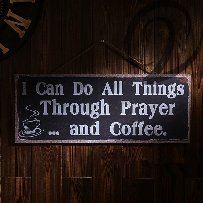 I can do all things through prayer and coffee bar pub for Things in a coffee bar