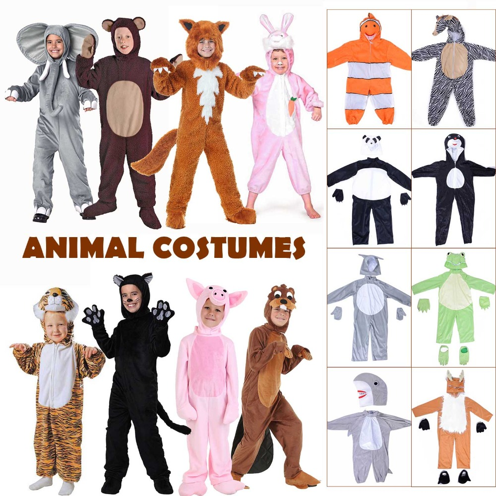 Kids Animal Costume Halloween Fancy Dress Cute Puppy Onesies Cartoon Animal Dress-Up Costume for Birthday Party