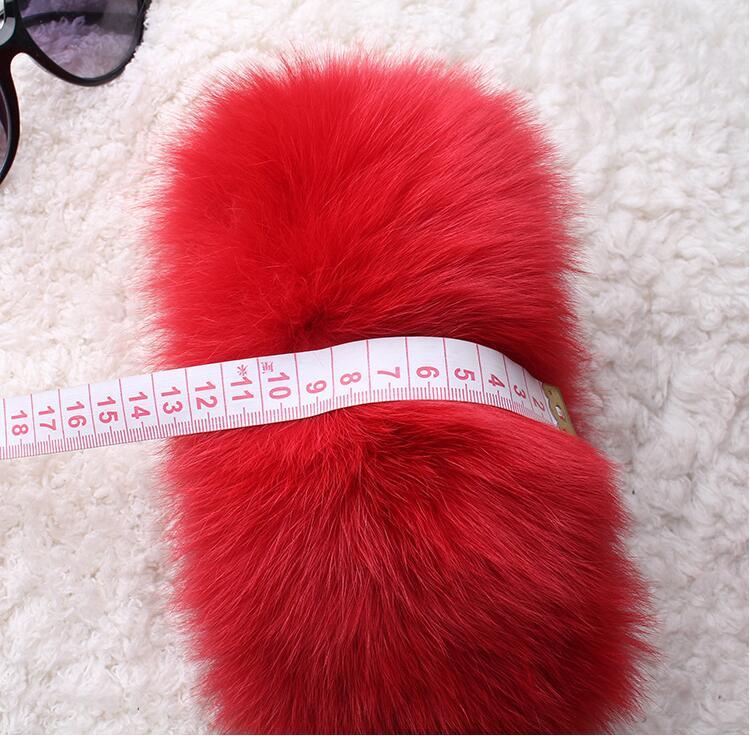 Fox Fur Cuffs Arm Warmers Fur Cuffs On Sleeves Wrist Fur 12cm