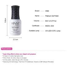 HNM 8ML Glitter UV Nail Gel Long Last LED Lamp Gel Varnish Gel Lacquer Semi Permanent Gel Nail Polish Primer Base Top Coat Glue