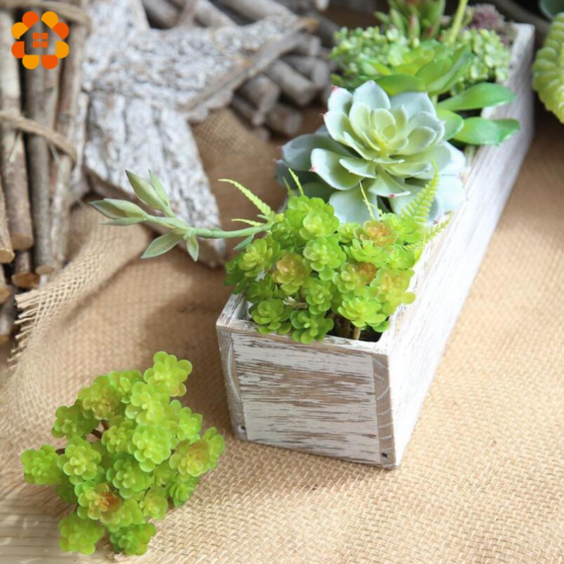 1PC Creative Artificial Succulent Grass Plant Fake Landscape Land Lotus Rare Plants Flower DIY Home Garden Wedding Decoration