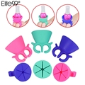Elite99 Silicone Rubber Nail Art Polish Wearable Holder Manicure Varnish Bottle Nail Polish Holder Holder Finger Ring Tool