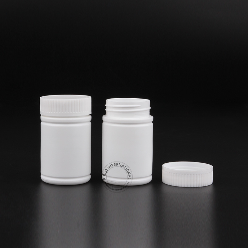 Free Shipping 50 X 80g Wide Mouth White Plastic Pill