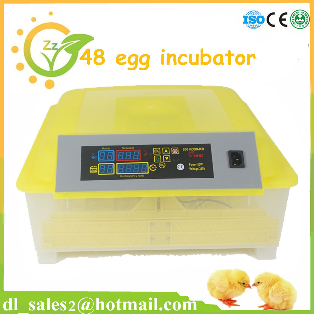 Hot Sale Turning Brooder Home 48 Eggs Automatic Incubator Digital Temperature Controller For Chicken Duck Eggs Incubator  temperature controller digital temperature controller for incubator 48 48 70mm spg 6000