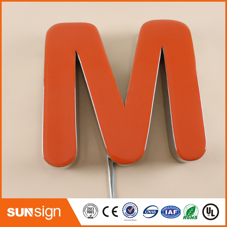 small frontlit illuminated epoxy resin led letter sign