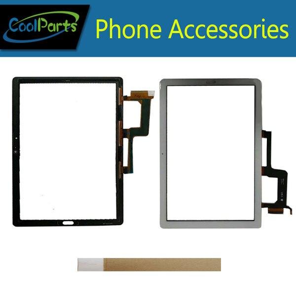 10.1'For Huawei MediaPad M5 Lite 10 BAH2 L09 BAH2 L09C Bach2 L09C Touch Screen Digitizer Panel Lens Glass Black White Color+Tape