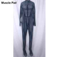 YOY ZENTAI High Quality Comic Batman Costume With Muscle Pad 3D Printing Batman Spandex Lycra Suit Muscle Batman Costume Adult