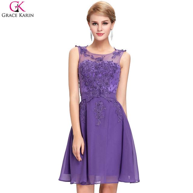 Cóctel de encaje marfil vestidos de novia 2017 de las mujeres elegantes de cóctel corto dress longitud de la rodilla summer cocktail party dress gk118