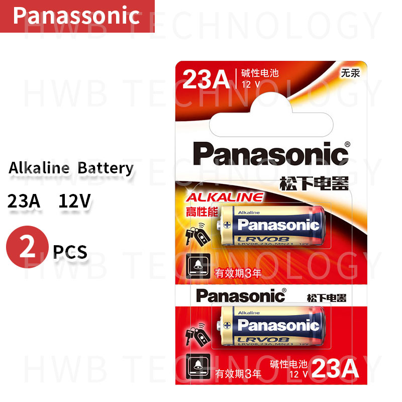 Wholesale 2pcs/lot New 12V Panasonic  A23 23A Ultra Alkaline Battery/alarm Batteries Free Shipping