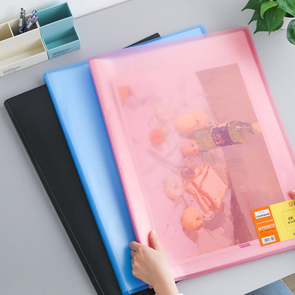 Large A2 Drawing Folder Booklet Clear PVC Bag Display Book For A2/4K Paper Organizer