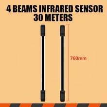 4 Балки инфракрасный датчик барьер, датчик барьер расстояние, инфракрасные барьеры с одной цифровой связи