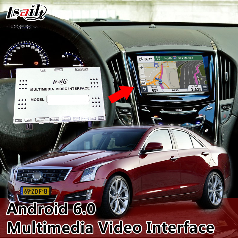 Android Navigation Box with 360 Panoramic View Play Store for Cadillac ATS