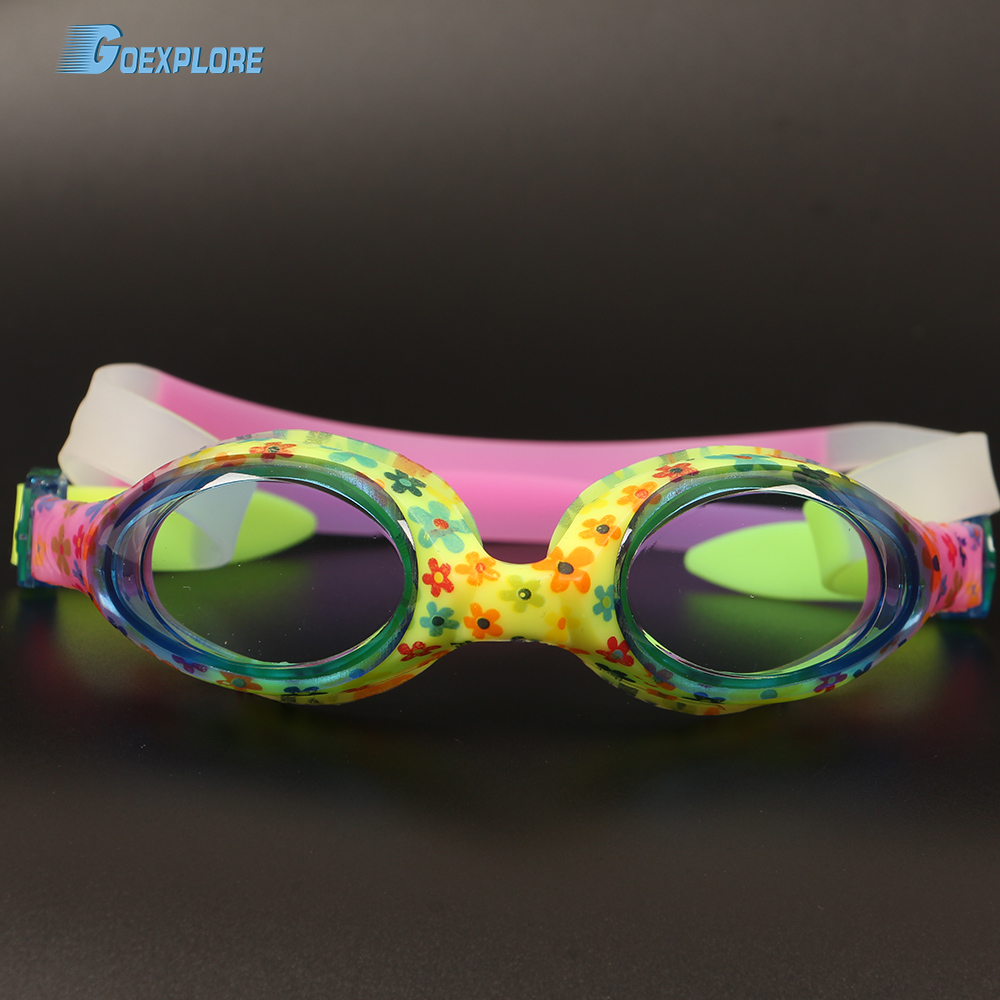 Goexplore Swim Goggles Kids Age 6-14 Waterproof Swimming Glasses Boys Clear Anti-fog UV Protection Eyewear Goggles for Girls