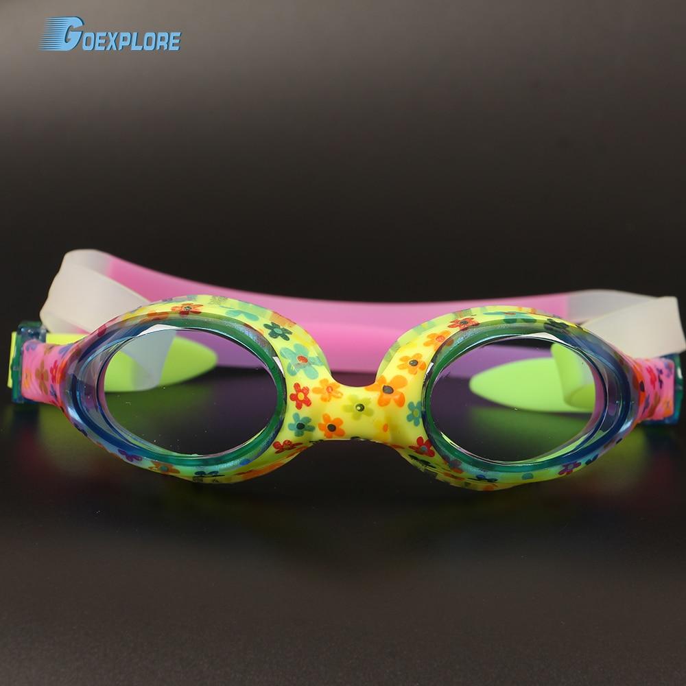 Goexplore Swim Goggles Kids Age 6-14 Waterproof Swimming Glasses Boys Clear Anti-fog UV Protection Eyewear Goggles for Girls