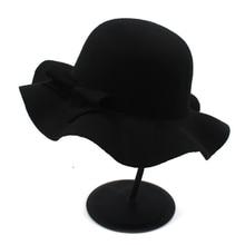 Новая осенне-зимняя шерстяная детская мягкая фетровая шляпа для девочек, фетровая Кепка-котелок, шляпа от солнца с цветочным принтом, 10