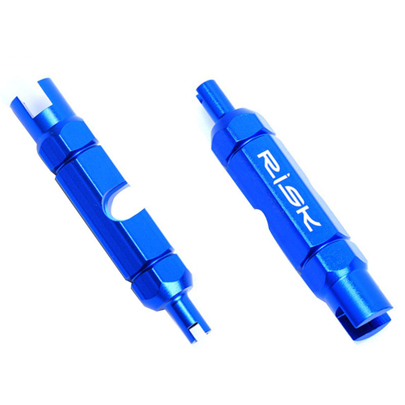 Cycling Repair Tool Double headed Multifunction Bicycle Wrench Valve Core Disassembly Tool for Schrader Valves and Presta Valves