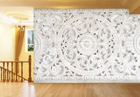 [Self Adhesive] 3D Sculpture White Stone 139 Wall Paper mural Wall Print Decal Wall Murals