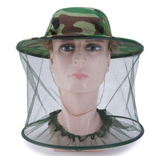Fish Beekeeping Gauze Cap Anti Mosquito Sun Protection Fishing Hat Field Jungle Mask Face Protect Mesh Cover Cap Hat(China)