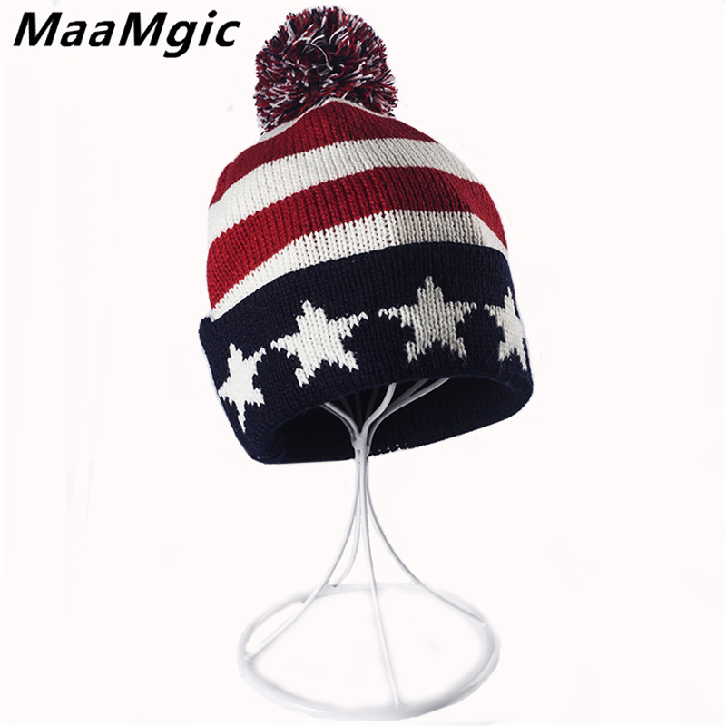 New Fashion Fur ball cap pom poms winter warm hat for women girl hat knitted beanies cap brand thick female masks cap Wholesale 2017 new fur ball cap pom poms keep warm winter hat for women girl s hat knitted beanies letter brand new thick female capm 003