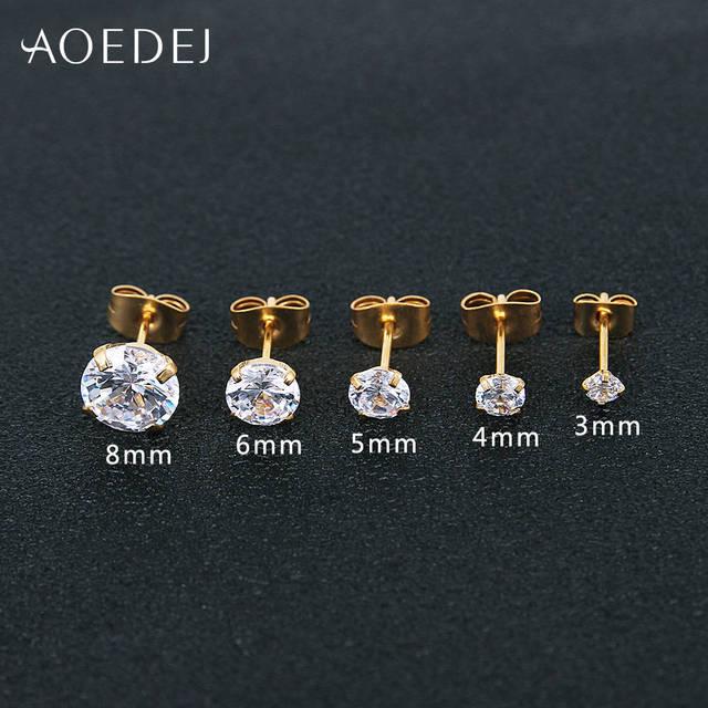 Серьги гвоздики aoedej 3 8 мм золотого цвета в форме звезды