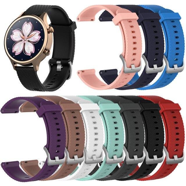 18mm סיליקון רצועת רצועת השעון עבור Ticwatch c2 Smartwatch עלה זהב גרסה החלפת נשים של צמיד צמיד להקות