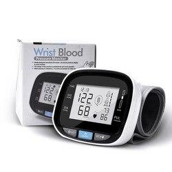 Wrist Medical Digital Blood Pressure Heart Rate Monitor Tensiometer BP Pulse Rate Tension Manometer Automatic Sphygmomanometer