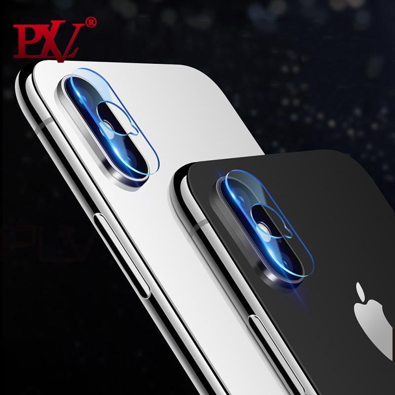 PLV Screen Protector For iPhone X Tempered Glass Lens