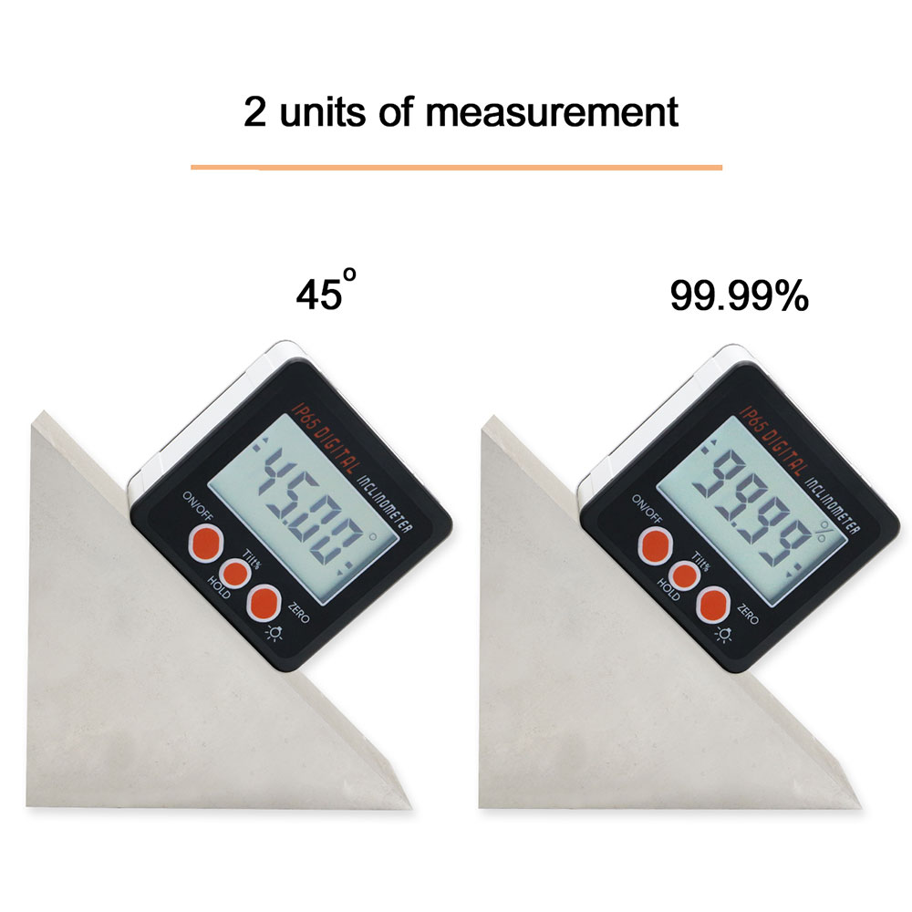 Image 5 - IP65 Waterproof  Protractor With Back light inclinometer Angle Bevel Box Electronic Protractor Magnetic Base-in Protractors from Tools